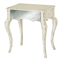 Pulaski Accents Table in White and Mirror