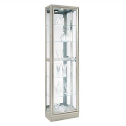Pulaski Curio Modern Display Cabinet in Platinum
