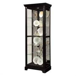 Pulaski Curio Display Cabinet in Painted Black