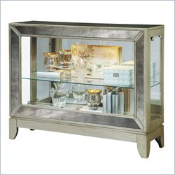 Pulaski Curios Display Console in Silver Tone