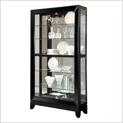 Pulaski Curio Display Cabinet in Glossy Black Granite