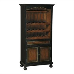 Pulaski Accents Wine Cabinet in Distressed Black