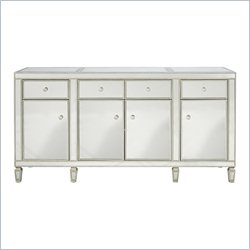 Pulaski Accents Credenza in Antique Silver and Mirror