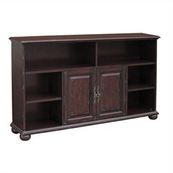 Pulaski Accents Bookcase Console in Distressed Brown