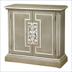 Pulaski Accents Hall Accent Chest in Grey Beige and Crisp Ivory