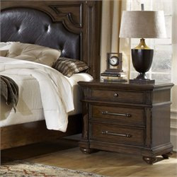 Pulaski Durango Ridge 3 Drawer Nightstand in Aged Brandy