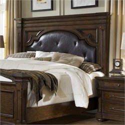 MER-1242 Durango Ridge Leather Panel Headboard in Aged Brandy