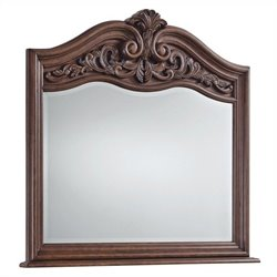 Pulaski Cheswick Mirror in Dark Wood