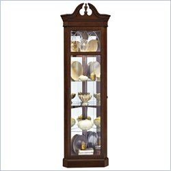 Pulaski Corner Curio in Dark Wood
