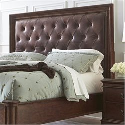Pulaski Montgomery Tufted Panal Headboard in Brown - King