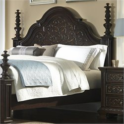 Pulaski Monarch Panel Headboard in Black - Queen