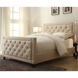 Pulaski King Bed in Nusilk Oyster