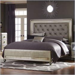 Pulaski Platinum Upholstered Bed in Metallic - Queen