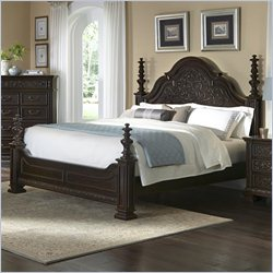 Pulaski Monarch Bed in Black - Queen