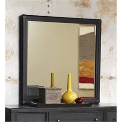 Pulaski Vintage Tempo Mirror in Black