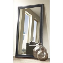 Pulaski Vintage Tempo Floor Mirror in Black