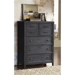 Pulaski Vintage Tempo Drawer Chest in Black