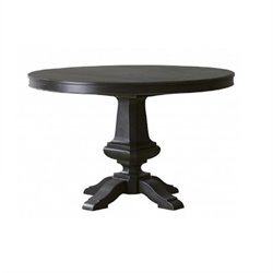 Pulaski Vintage Tempo Round Table in Dark Wood