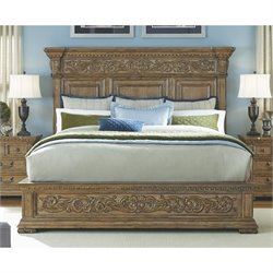 Pulaski Stratton Panel Bed in Acacia