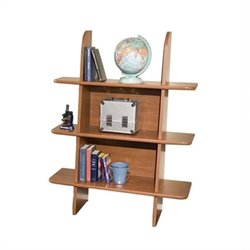 Berg Furniture Ladder 3 Shelf Wood Bookcase - Brandy