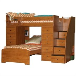 Berg Furniture Sierra Space Saver Twin Over Twin Bunk Bed