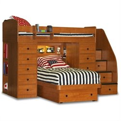 Berg Furniture Sierra Space Saver Twin Over Twin Platform Bed