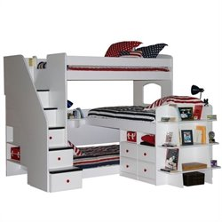 Berg Furniture Utica Trifecta Triple Twin Bunk Bed