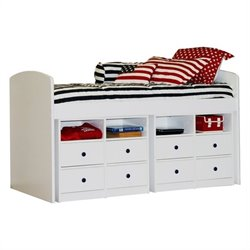 Berg Furniture Utica Lofts 4 Drawer Dresser for Tall Twin Bed