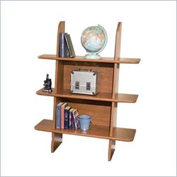 Berg Furniture Ladder 3 Shelf Wood Bookcase in Chestnut