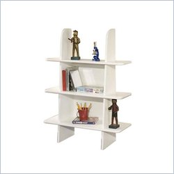 Berg Furniture Ladder 3 Shelf Wood Bookcase in White