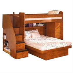 Berg Furniture Sierra Wood Twin Over Full  Loft Bed