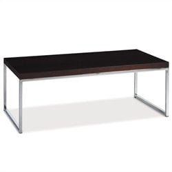 Rectangle Wood Top Coffee Table in Espresso