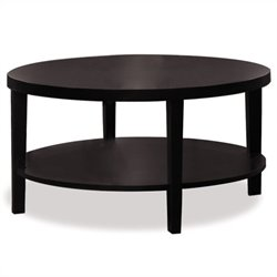 Avenue Six Merge 36 Inch Round Espresso Coffee Table