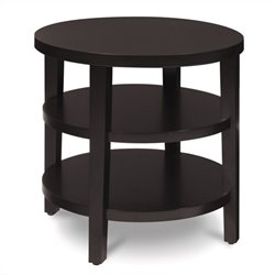 Avenue Six Merge 20 Inch Round Espresso End Table