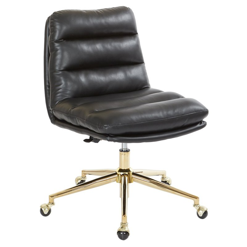 Pleasing Avenue Six Legacy Faux Leather Swivel Armless Office Chair In Black Uwap Interior Chair Design Uwaporg