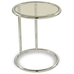 Avenue Six Yield Glass Circle Table