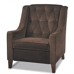 Avenue Six Curves Tufted Club Chair in Brown