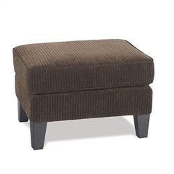 Avenue Six Sierra Collection Rectangular Ottoman in Brown