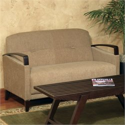 Avenue Six Main Street Loveseat in Woven Wheat