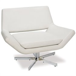 Avenue Six Leather Swivel Chair in White