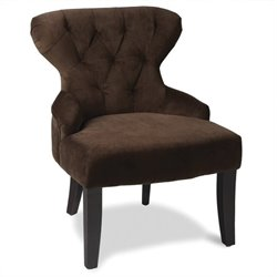 Avenue Six Curves Tufted Hourglass Chair in Brown