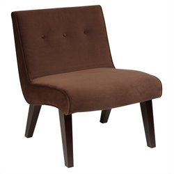Avenue Six Curves Tufted  Valencia Chair in Brown