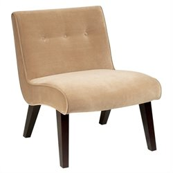 Avenue Six Curves Valencia Chair in Coffee Velvet