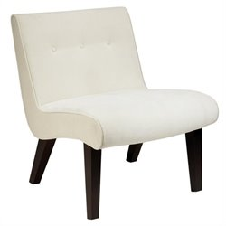 Avenue Six Curves Tufted Valencia Chair in Cream