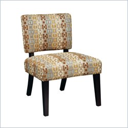 Avenue Six Jasmine Accent Chair in Geo Java