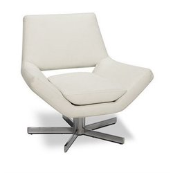 Avenue Six Yield 30 Inch Wide Swivel Chair - White