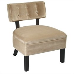 Avenue Six Curves Tufted Chair in Coffee