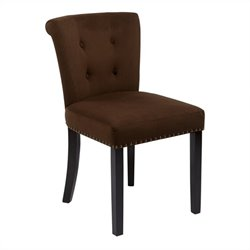 Avenue Six Kendal Dining Chair in Chocolate Velvet
