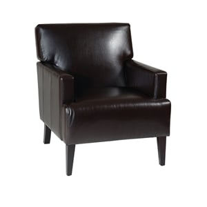 Leather Arm Chair in Espresso