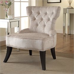 Avenue Six Colton Tufted Chair in Ivory